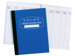 Cheque Record Book
